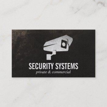 security camera business card