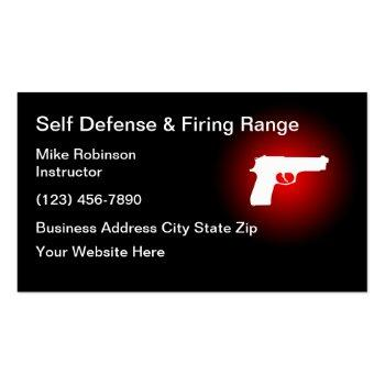 Small Self Defence Shooting Range Business Card Front View