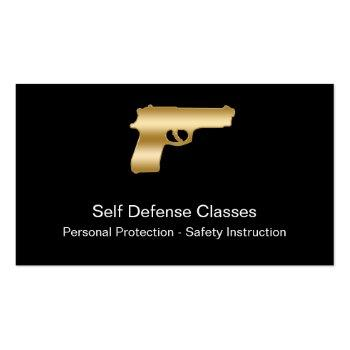 Small Self Defense Business Cards Front View
