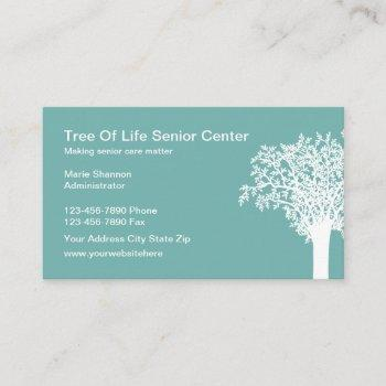 senior care services business card