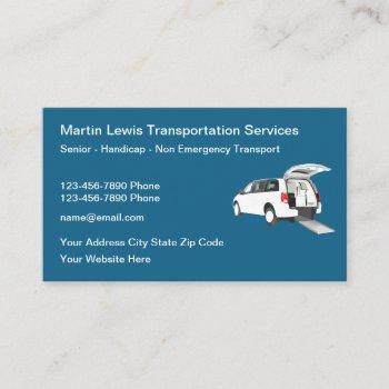 senior handicap none emergency transport business card