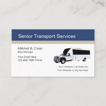 senior transport services business card