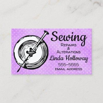 sewing alterations and repairs business card