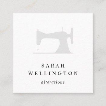 sewing machine | seamstress tailor alterations square business card