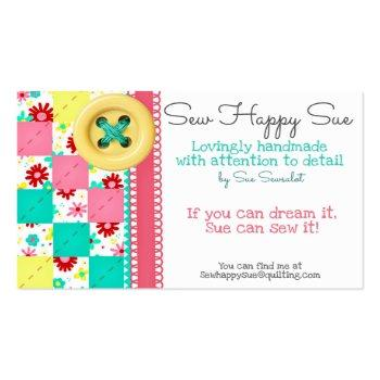 Small Sewing/quilting Business Card Front View