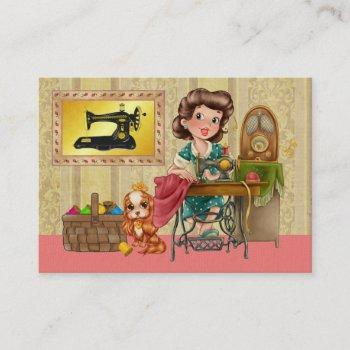 sewing / seamstress / fashion - srf business card