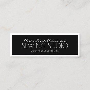 sewing studio black & white bordered card