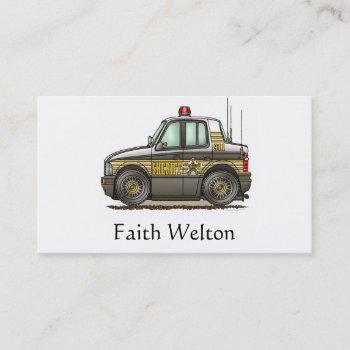 sheriff car patrol car business card