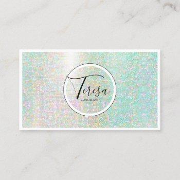shining mosaic tiles pastels id565 business card
