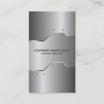 shiny metallic embossed look  business card