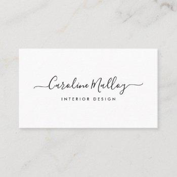 signature script business card