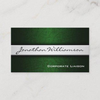 silver band modern professional business card