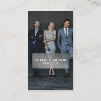 silver plaque minimal professional business photo business card