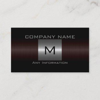 silver stainless steel metal business card