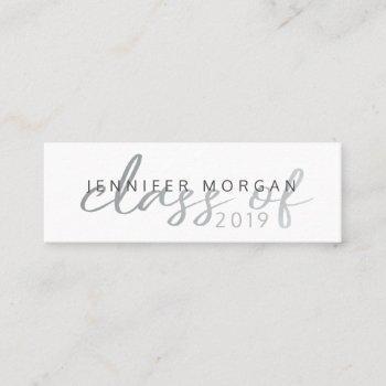 silver whimsical script | graduation name card