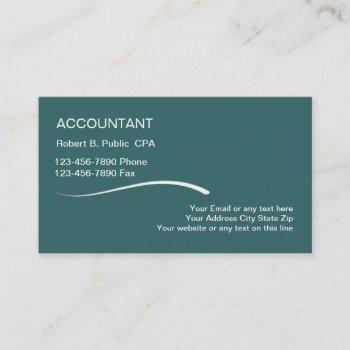 simple accountant business cards