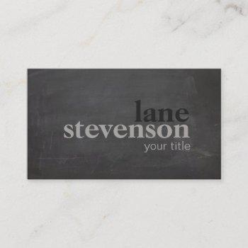 simple and modern bold typography  rustic black business card