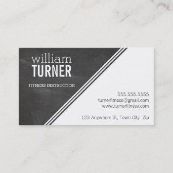 simple angle modern text minimal trendy chalkboard business card