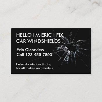 simple auto glass business cards