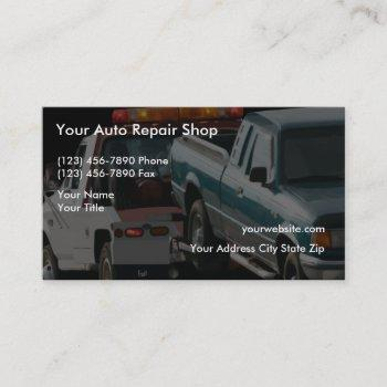 simple automotive towing business cards