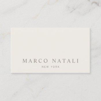 simple beige professional business card