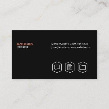 simple (black) business card