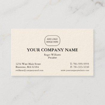 simple black corporate business - add your logo business card