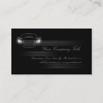 simple black luxury car company business card