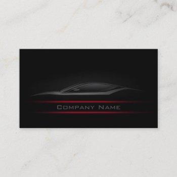 simple black minimalist red line car card