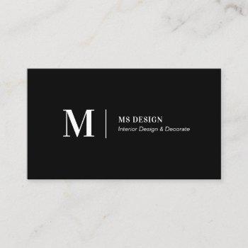 simple black modern minimalist business cards