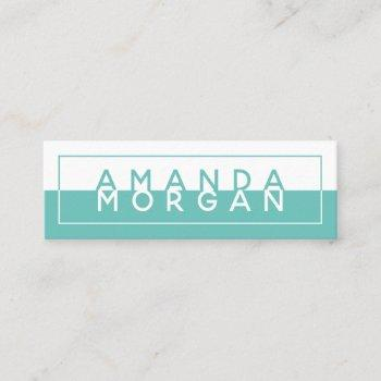simple block color modern reflection mini business card