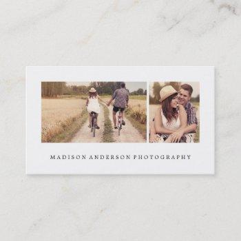 simple & clean 3   photography business cards