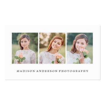 Small Simple & Clean | Photography Business Cards Front View