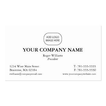 Small Simple Corporate Business Card - Add Your Logo Front View