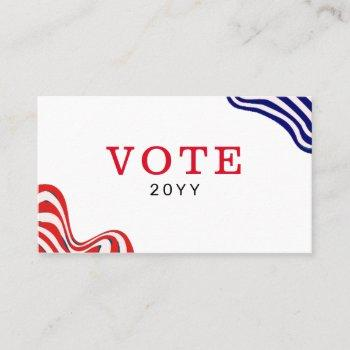 simple custom political campaign business card