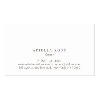 Small Simple Elegant Blush Pink Professional Minimalist Business Card Back View