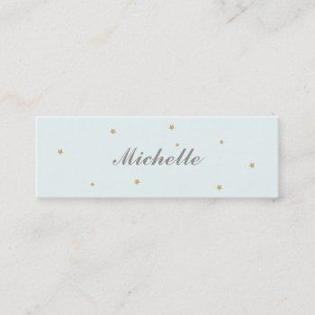 simple elegant gold stars mommy card