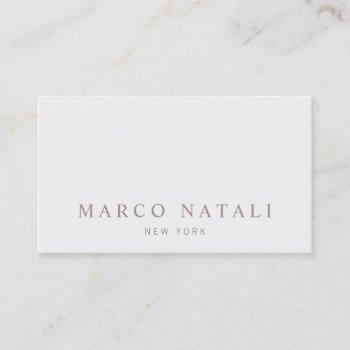 simple elegant gray professional business card