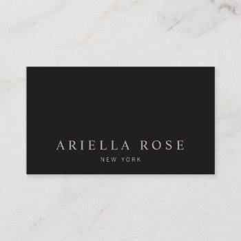 simple elegant professional black business card