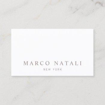 simple elegant white professional business card