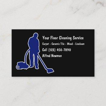 simple floor cleaning business cards
