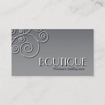 simple floral pattern - women's fashion boutique business card