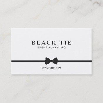 simple formal black tie event planner business card