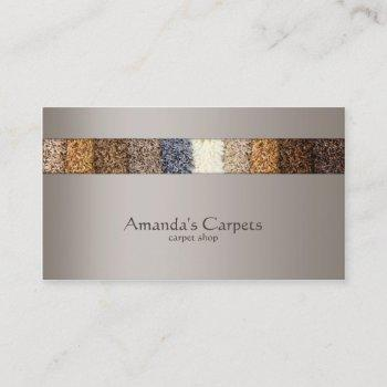 simple grey carpet shop card