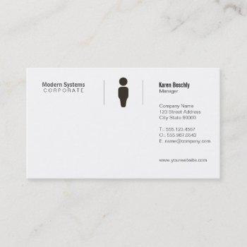 simple grid business card