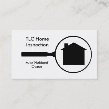 simple home inspection business card