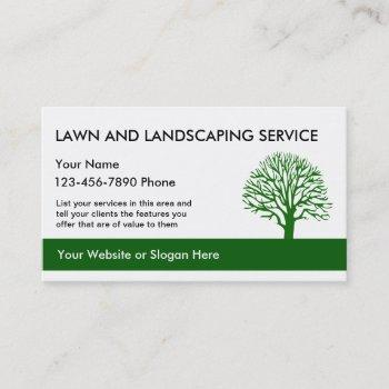 simple landscaping cards template