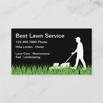 simple lawn mowing business card