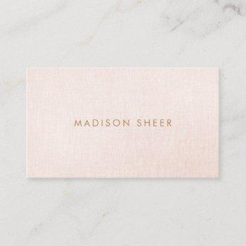simple, light blush pink, stylish minimalistic business card