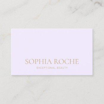 simple light lavender professional business card